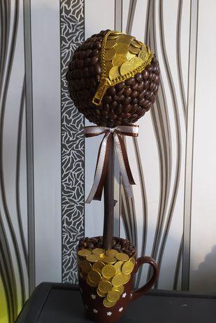 Топиарий, кофейное дерево, сувенир, подарок