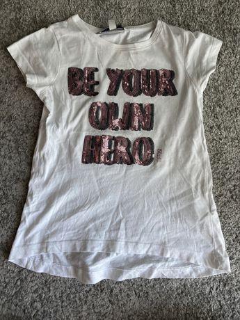 T-shirt branca para menina