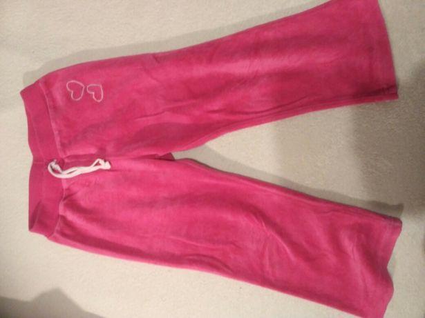Spodnie dresowe dziewczynka 2 - 3 lata 98 cm do przedszkola na gumce