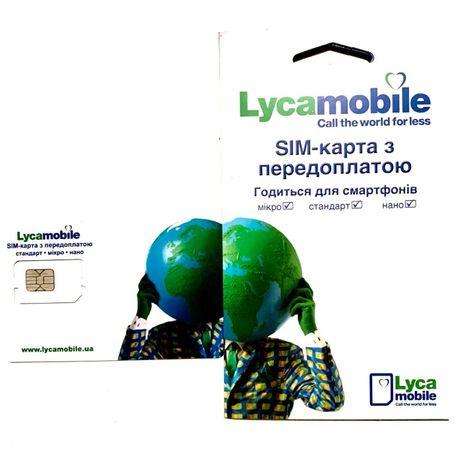 АКЦИЯ Стартовые пакеты lycamobile vodafone kyivstar lifecell