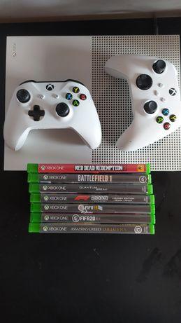 XBOX ONE S 1TB 2 PADY 7 gier
