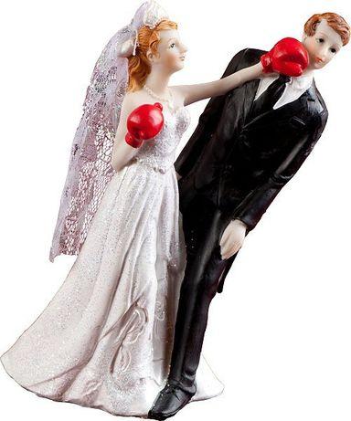 Zabawna figurka na tort weselny boksowanie