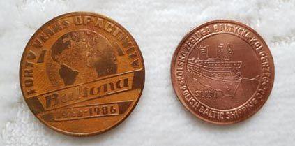 Medal Baltona 40 lat działalności PŻB Kołobrzeg Polferries wysyłka