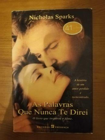 Livro As Palavras Que Nunca Te Direi, Nicholas Sparks