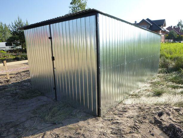 Garaż Blaszany Blaszak Schowek na budowę WZMOCNIONY Garaże PRODUCENT
