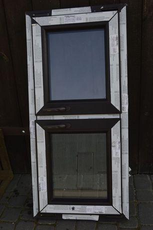 okno brązowe