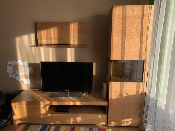 Meble drewniane do salonu - prawie nowe