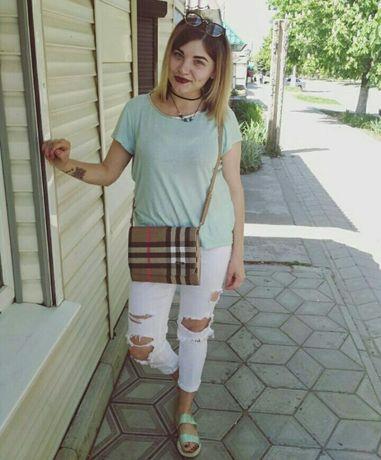 Женские джинсы,белые летные джинсы