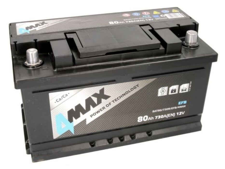 Akumulator 4Max EFB Start-Stop BAT80 12V 80Ah 730A P+ Kraków Kraków - image 1