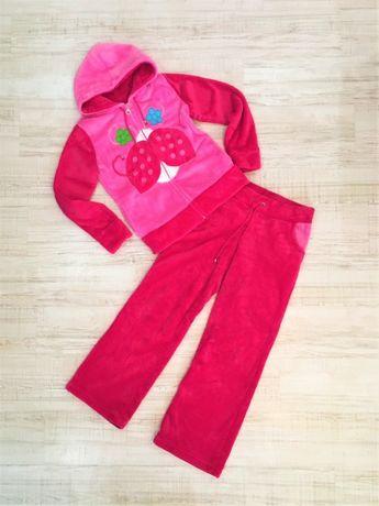 Костюм спортивный домашний теплый розовый штаны и мастерка NEXT, р. S
