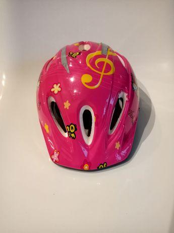 Kask rowerowy dziecięcy różowy L