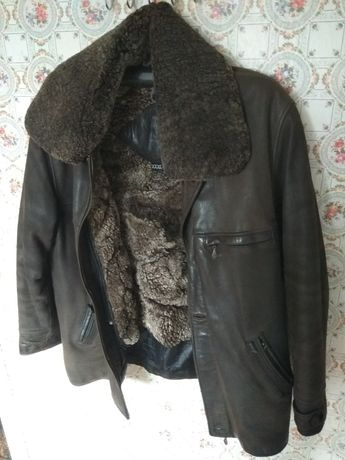 Кожаная куртка с подстёжкой