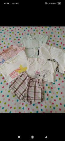 Komplet zestaw bluzki + spodenki Pak ubrań rozm 116-122