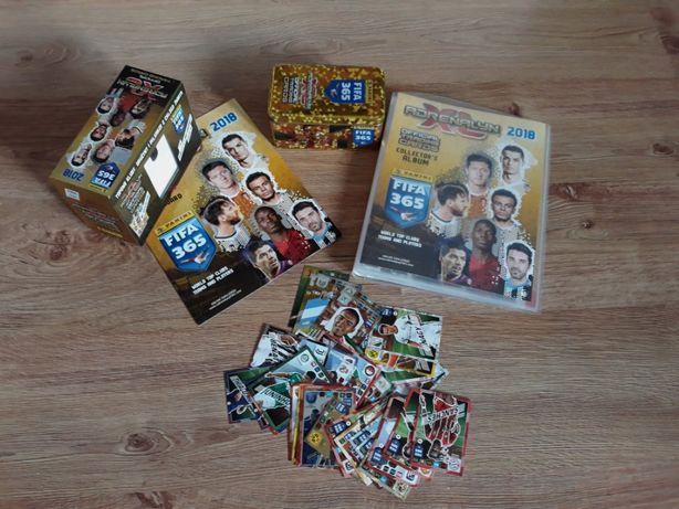 karty piłkarskie xl adrenalyn 238 szt 2018 album, puszka gift box