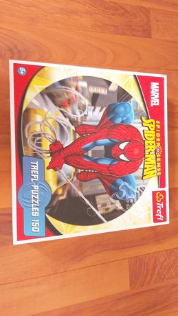 Puzzle okrągłe spider man 150 elementow