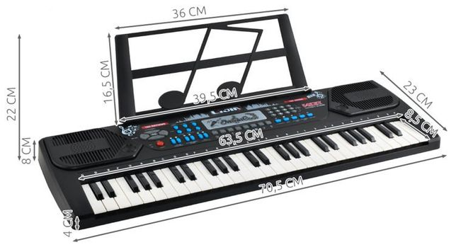 Keyboard - organy elektroniczne 54 klawisze K8238 pianinko