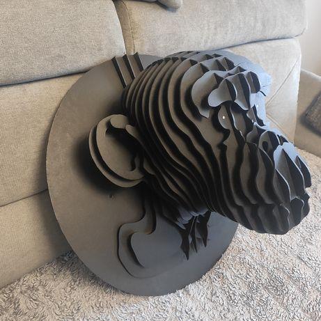 Głowa szympansa 3D