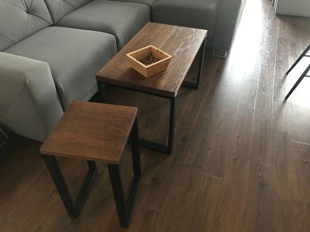 Stół kawowy dębowy blat