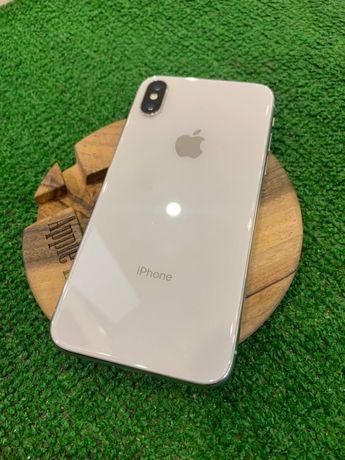 iPhone X 64 silver Neverlock Гарантия 6мес Акб 90% Магазин идеал