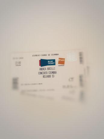"2 Bilhetes Concerto ""Andrea Bocelli"" 26JUN"