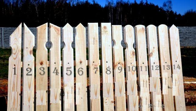 Sztacheta Sztachety drewniane Ogrodzenie deska sosna olcha modrzew