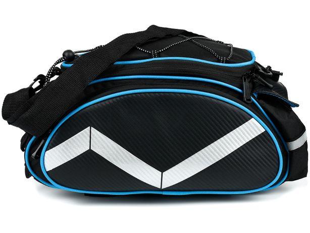 torba rowerowa sakwa na bagażnik ramię rower F90 niebieska