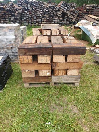 Palisada krawężnik z drewna  bukowego