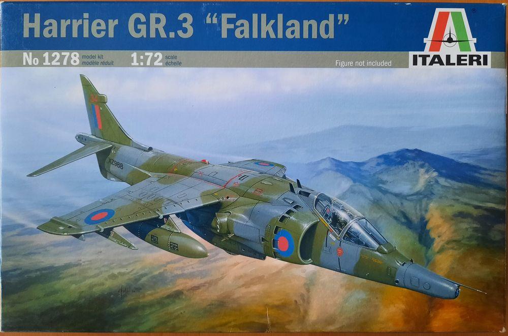 Model do sklejania Harrier GR.3 1/72 Italerii 1278 Warszawa - image 1