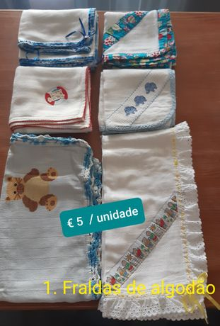 Cobertores, manta, fraldas, saco dormir bebé e outros – desde € 3