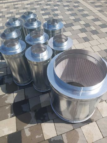 Шумоглушитель вентиляционный, шумопоглинач вентиляційний канальний