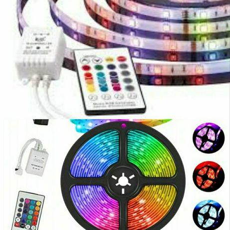 Tasma LED 5m Kolorowa + Pilot