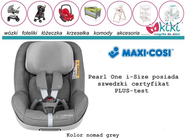 Maxi Cosi Fotelik 0-18 Pearl One i-Size Nomad Grey test PLUS