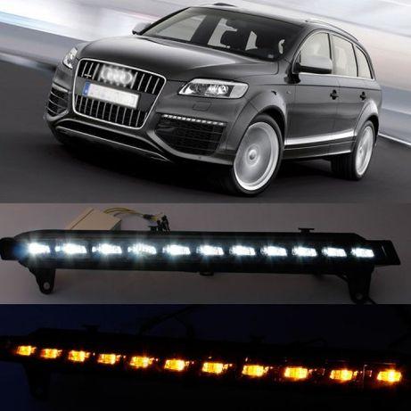 Audi Q7 4L światła LED dzienne DRL + kierunkowskazy LED, komplet