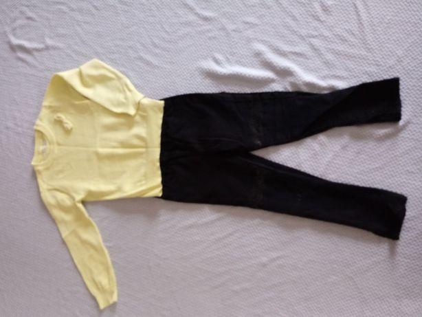 Sweterek Sinsay i spodnie jeans dla dziewczynki, rozm 110-116