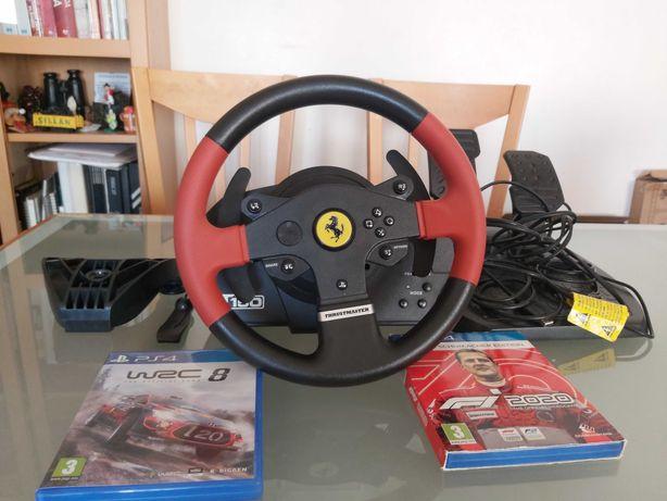 Volante T150 Ferrari PS4 Edition + 2 Jogos