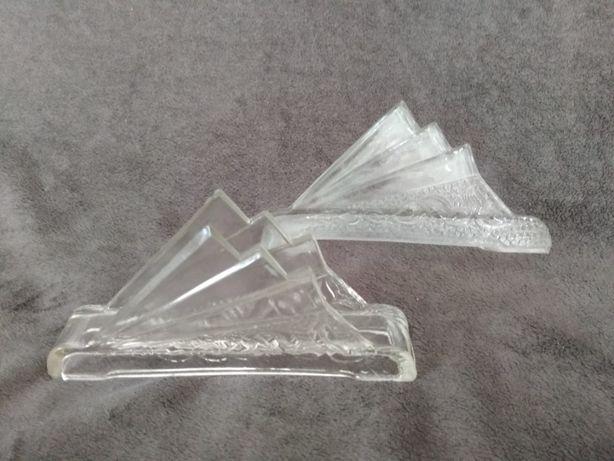 Szklany serwetnik-żagiel-design lata 60- klasyka PRL-u