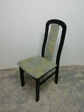 6x bukowe krzesło tapicerowane - lata 90te