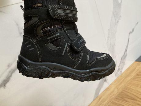 Buty zimowe superfit stan idealny czarne goretex na rzepy 25
