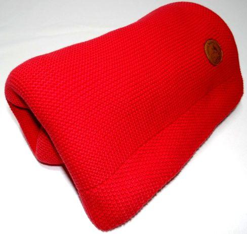 Kocyk bawełniany czerwony 100x80