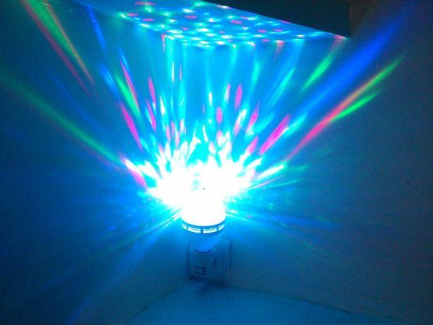 Лампа RGB LED Mini Pаrty Light (светомузыка)