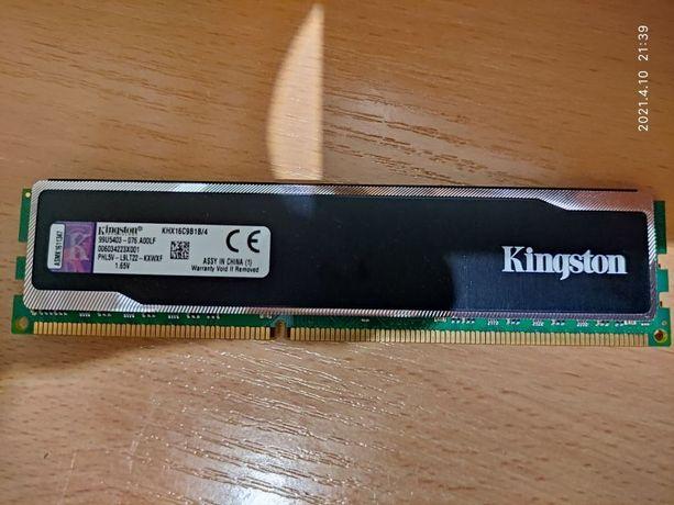 Пам'ять HyperX 4 GB DDR3 1600 MHz (KHX16C9B1B/4)