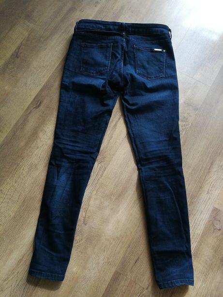 Spodnie jeansowe granatowe ZARA