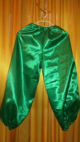 штаны зеленые (шаровары, костюм лесовичка) на рост 116-140