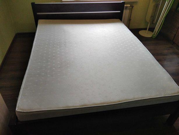 Łóżko z materacem sprężynowym 160/200, wenge, Bodzio