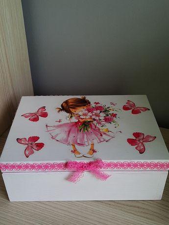 Pudełko,pamiątka chrztu lub narodzin