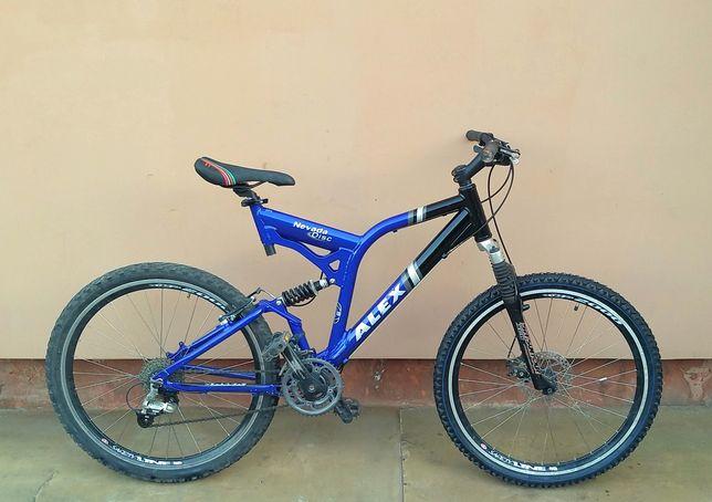 Велосипед двох-підвіс ALEX, алюміній, весь на Deore, 26 колеса.