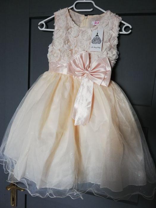 Śliczna sukieneczka jasna brzoskwinia Gliwice - image 1