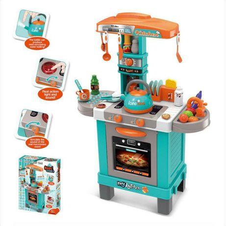 Кухня детская 008-939 A свет звук пускает пар и аксессуары супермаркет
