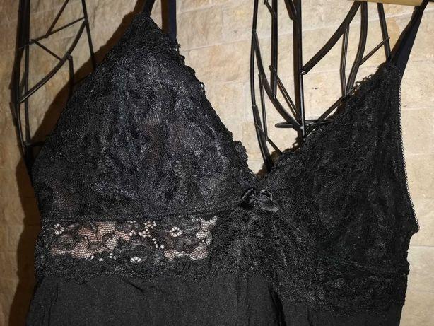 Koszulka nocna halka z koronkowym biustem rozmiar 40 wygodna bdb