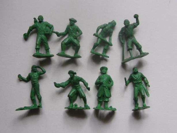 Детские солдатики Редкий комплект тяжелых ! произв.СССР зеленые,